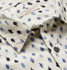Burberry Brit - Leaf-Print Cotton Shirt | MR PORTER