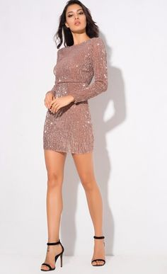 Sequin Champagne Party Dress - Source by sanelakah Sequin Dresses Dresses Short, Hoco Dresses, Event Dresses, Homecoming Dresses, Sequin Party Dress, Sexy Party Dress, Night Party Dress, Classy Dress, Classy Outfits