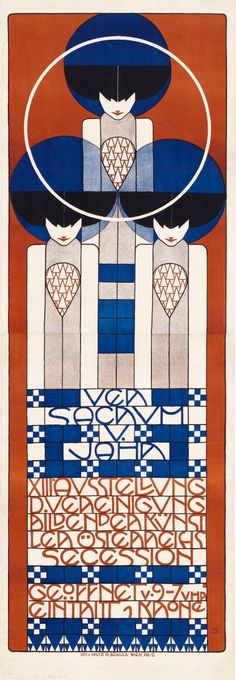 Koloman Moser. Poster for the 13th Secessionist Exhibition, lithograph, 1902 - Google Search