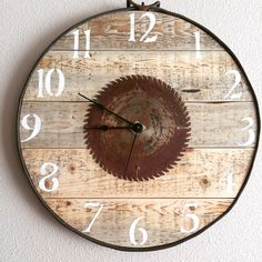 A personal favorite from my Etsy shop https://www.etsy.com/listing/243181455/16-rustic-pallet-clock-exact-one-will-be