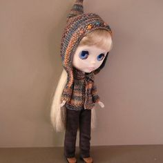 Fall Variegated Sweater or Cardigan Pixie Hat and by myfairdolly, $34.00