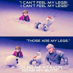 Kristoff | Olaf | Frozen | Love this part!!