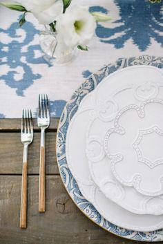 Fun tableware: http://www.stylemepretty.com/living/2015/04/30/outdoor-garden-dinner-soiree/ | Photography: Krista Mason - http://www.kristamason.com/