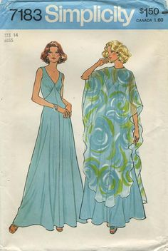 Vintage Sewing Pattern   Simplicity 7183   Year 1975   Bust 36   Waist 28   Hip 38