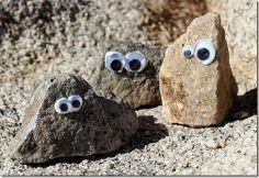 pintar y jugar: Plástica para niños ojos en las piedras