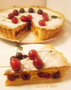 » Tarta cu visineCulorile din Farfurie Romanian Desserts, French Toast, Sweet Treats, Cheesecake, Goodies, Pudding, Cooking, Breakfast, Unt