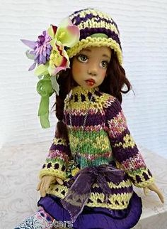 OOAK SWEATER DRESS SET OUTFIT FOR LAYLA HOPE KAYE WIGGS DOLLSTOWN DT7 BY BARBARA