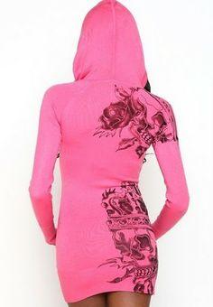 Pink hoodie dress <3