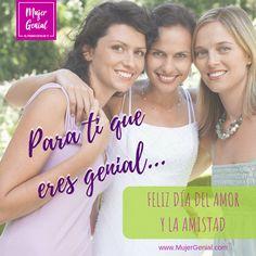 Celebremos la amistad.  ¡Felicidades a nuestras amigas y comunidad Mujer Genial! #SoyMujerGenial Movies, Movie Posters, Happy, Friendship, Community, Women, Film Poster, Films, Popcorn Posters