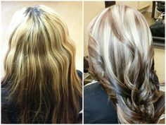 (L)Before    (R)After #hairbymarieberdugo