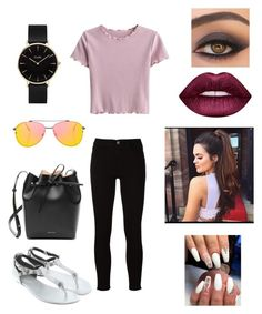 """Untitled #1652"" by glamor234 on Polyvore featuring Frame, Balenciaga, Mansur Gavriel, Topshop, CLUSE and Lime Crime"