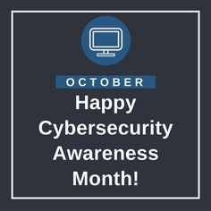 Follow our posts this month for tips on how you can improve your online security. #CybersecurityAwarenessMonth