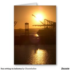 Sun setting on Industry Greeting Card & Gifts