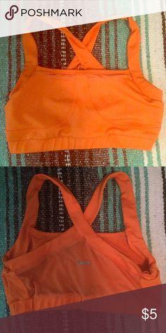 Orange spandex sports bra Orange spandex sports bra SMALL (TKO). Worn only 3 times. TKO Intimates & Sleepwear Bras