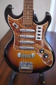 Vintage 1960's Teisco 4 pickup Electric Guitar