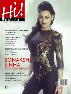 Sonakshi Sinha on The Cover of Hi Blitz Magazine September 2012 Issue. | Bollywood Cleavage