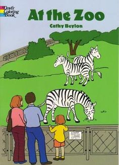 At The Zoo Coloring Book PDF