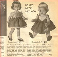 1962 sears doll ads ... I got Chatty Baby for my 6th bday.