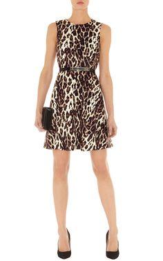 Robe en coton à imprimé léopard