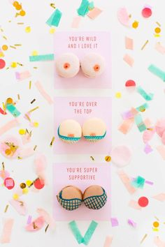 DIY boob macarons and printable Valentines