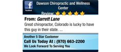 Great chiropractor, Colorado is lucky to have this guy in their state.