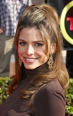 c2bfecfa3a4e Celebrity Maria Menounos Long Curly Pullback Hair Style. For Lorena      Maria Menounos