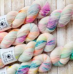 GOTTA HAVE FINGERING, Birthday Confetti, Hand Dyed Yarn, hand painted yarn, sock yarn, knitting yarn, crochet yarn