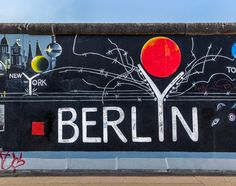 East Side Gallery in Berlin, Berlin East Side Gallery, Berlin Wall, Blue Clouds, Weekend Trips, Picture Photo, Nice Picture, Cool Pictures, Street Art, Blog