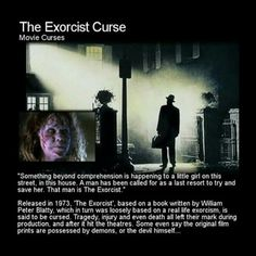 Many believe this movie should never have been made, many people wanted to halt the production due to the strange events that seemed to plague it. Creepy Stories, Ghost Stories, Paranormal Stories, Strange Events, Legends And Myths, The Exorcist, Urban Legends, Haunted Places, Horror Movies