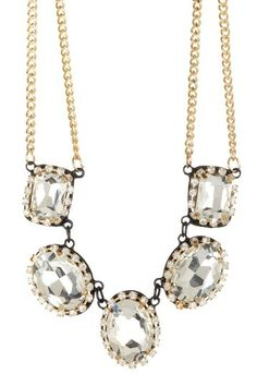 Luxe Crystal Necklace   I really should have this! I can wear it when I watch Maury!