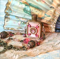 Maidens Heart antique perfume bottle necklace by Sweet Ruin