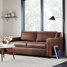 Henry® Leather Sofa 86""