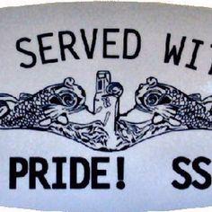 Reflective bumper/window sticker.  Available online at SubmarineShop. #subforce #servedwithpride #submarinerdolphins #submariner #submarines #ssbn #ssn #bubbleheads #submarineforce