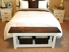 Diy Bedroom Bench build a bench diy from lowes. this would also look nice at the end