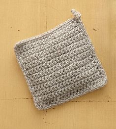 """Square Sachet  Or, """"What to do with that one ball of Vanna's Glamour.""""  I have only one ball of this in black and I don't really like crocheting with such fine yarn.  This is a perfect way to use it up and have some nice little gifts to give."""