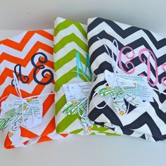 Large  Chevron  Laundry Bag Tote College Dorm Summer Camp Duffle Bag with Shoulder Strap Monogrammed
