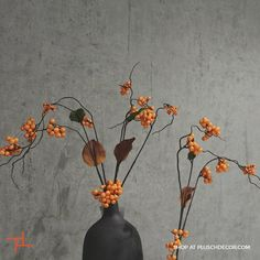 This Orange Berry Twig from our ASA Selection will induce the right amount of grace into your surroundings.