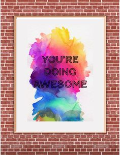 You're Doing Awesome - 8x10 Print Printable Wall Art Gift for Friends Office Wall Art Office Printables Dorm Poster Instant Download by HotWheelsAndGlueGuns