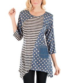 This Blue Stripe Sidetail Tunic is perfect! #zulilyfinds
