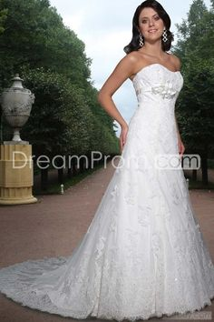 Spectacular A-Line/Princess Sweetheart Floor-length Chapel Lace Bridal Gowns