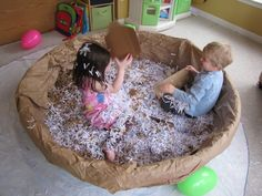 12. Throw shredded paper at each other. Laugh and be silly.