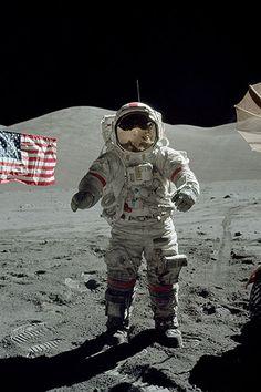 Astronaut - Looks to be Apollo 15 CDR David Scott #science #space #astronaut #moon