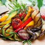 Recipes: Grilled Eggplant, Zucchini and Yellow Peppers with a Balsamic Reduction. Skip the parm, salt, and lemon.
