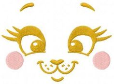 happy bunny face free embroidery design