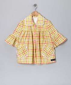 Take a look at this Green Plaid Jacket - Toddler & Girls by Fabulous Girl & Smartie Britches on #zulily today!