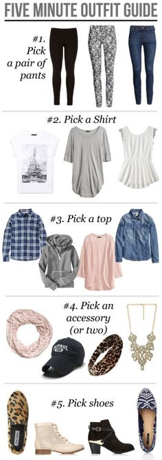 5 minute outfit guide