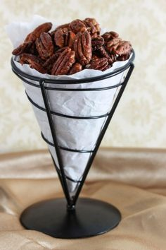 sweet and spicy maple roasted pecans on OvertimeCook.jpg sweet and spicy maple roasted pecans on OvertimeCook. Spicy Pecans Recipe, Spicy Nuts, Spiced Pecans, Roasted Pecans, Kosher Recipes, Pecan Recipes, Snack Recipes, Cooking Recipes, Snacks