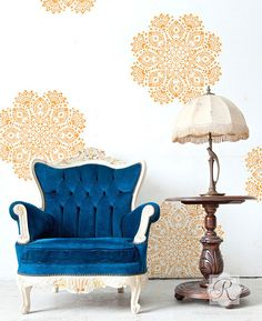 Wall Motif Victoria Lace Doily Stencil   Royal Design Studio