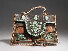 Yoruba (Nigeria) , Leather bag from 1951 Vintage Purses, Vintage Bags, Vintage Handbags, Tote Purse, Tote Handbags, Clutch Bag, Handmade Purses, Handmade Handbags, Fashion Bags