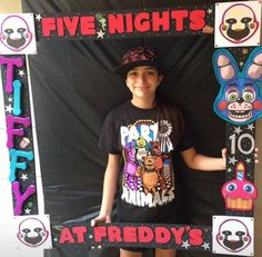 My daughter's Five Nights At Freddy's Birthday photo frame that I made for her party.